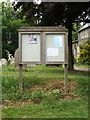 TM0481 : St.Andrew's Church Notice Board by Adrian Cable
