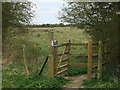 TL5357 : New gate into Great Wilbraham Common by Hugh Venables