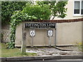TM1079 : Tottington Lane sign by Geographer