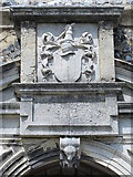TL3706 : The Church of St. Augustine, Broxbourne - porch (detail) by Mike Quinn