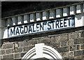 TM1473 : Magdalen Street (road sign), Eye by Evelyn Simak
