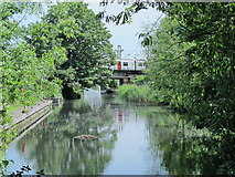 TL3706 : The River Lea (or Lee) south of Mill Lane, EN10 by Mike Quinn
