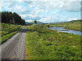 NN2940 : Lane along the River Orchy at Bridge of Orchy by Malc McDonald