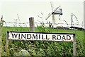 J5775 : Windmill Road name sign, Millisle (July 2015) by Albert Bridge