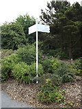 SN5981 : Roadsign on the university entrance road by Adrian Cable