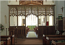 TL4731 : St Mary & St Clement, Clavering - Screen by John Salmon