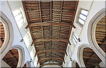 TL4731 : St Mary & St Clement, Clavering - Roof by John Salmon