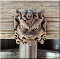 TL4731 : St Mary & St Clement, Clavering - Roof boss by John Salmon