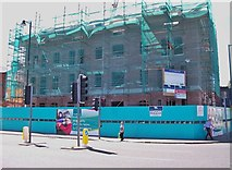 J3472 : Social housing apartments under construction on the Lower Ormeau Road by Eric Jones