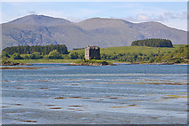 NM9247 : Loch Laich and Castle Stalker by Nigel Brown