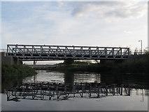 TQ3785 : Cycle bridges over the Lea by Stephen Craven