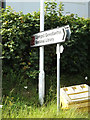 SN5981 : Roadsign on the A487 Penglais Road by Adrian Cable