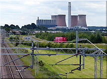 SK0419 : View towards the Rugeley B power station by Mat Fascione