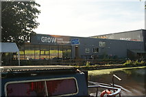 TQ3784 : View of Grow Bar and Restaurant from the River Lea Navigation by Robert Lamb