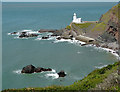 SS2227 : Rocky shoreline at Hartland Point, Devon by Roger  Kidd