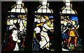 TQ0216 : Coldwaltham: St. Giles' church: Stained glass window by Michael Garlick