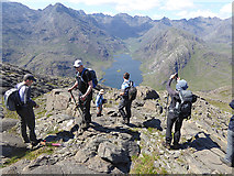 NG4919 : View from near the summit of Sgurr na Stri by Oliver Dixon