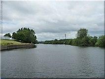 SE4824 : The River Aire upstream [north] of Ferry Bridge by Christine Johnstone