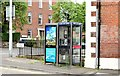 J3272 : Two telephone boxes, Windsor Road, Belfast (July 2015) by Albert Bridge