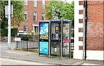 J3272 : Two telephone boxes, Windsor Road, Belfast (July 2015) by Albert Bridge