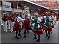 SU9676 : Morris dancers, Windsor Central Station by Jim Osley