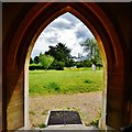 TQ0216 : Coldwaltham: St. Giles' church: View from the south entrance porch by Michael Garlick