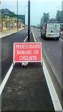 TQ3078 : Sign on Vauxhall Bridge by PAUL FARMER