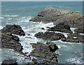 SS2224 : Rocky shoreline at Hartland Quay, Devon by Roger  Kidd
