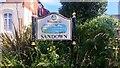 SZ5984 : Sandown Sign at Sandown Station by PAUL FARMER