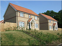 TL8786 : New houses on The Street, Croxton by JThomas
