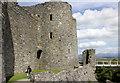 SH5831 : Harlech Castle, the east wall by Jeff Buck