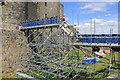 SH5831 : Temporary footbridge, Harlech Castle by Jeff Buck