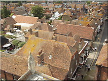 TQ9220 : Rye: rooftops around Red Lion Yard by Chris Downer