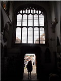 TQ9220 : Rye: south window of the church and a glimpse down Lion Street by Chris Downer