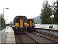 NM8981 : Trains passing at Glenfinnan by Malc McDonald