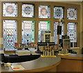 TQ2878 : Foyer bar with stained glass windows, Cadogan Hall  by David Hawgood