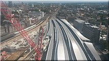 TQ3379 : London Bridge Station reconstruction by David Martin