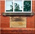 SJ9394 : Memorial Stones on Haughton Green Sunday School by Gerald England