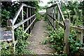 SJ6680 : Footbridge near Hollies Farm by Anthony O'Neil