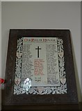SS6644 : Christ Church, Parracombe: Roll of Honour by Basher Eyre