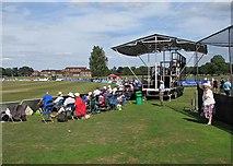 TQ0893 : Watching county cricket at Merchant Taylors' School by John Sutton
