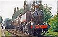 SO7486 : GWR-design 15XX 0-6-0PT on Severn Valley Railway at Hampton Loade, 1997 by Ben Brooksbank
