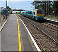 SN3610 : Carmarthen train at Ferryside railway station by Jaggery
