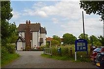 SJ7758 : Salt Line trail: Station House from trail car park by Jonathan Hutchins