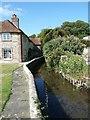 SU8003 : Bosham Stream flows past Mill House, Bosham by Rob Farrow