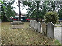 TQ0464 : St Paul, Addlestone: churchyard by Basher Eyre