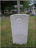 SU8363 : St John the Baptist, Crowthorne: CWGC stone (c) by Basher Eyre
