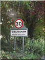 TM0771 : Gislingham Village Name sign on Thornham Road by Adrian Cable