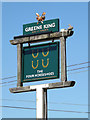 TM1070 : The Four Horseshoes Public House sign by Adrian Cable