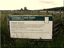 H5647 : Notice, Carnagat Court Tomb by Kenneth  Allen